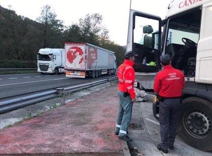 Denunciado un camionero en Santesteban por positivo en cuatro drogas y triplicar la tasa de alcohol