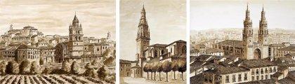 El pintor Taquio Uzqueda cede a la Diócesis tres de sus obras, que representan a las dos catedrales y a La Redonda