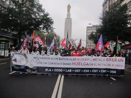 Sindicatos del Metal de Bizkaia convocan ocho nuevos días de huelga a partir del 28 de noviembre