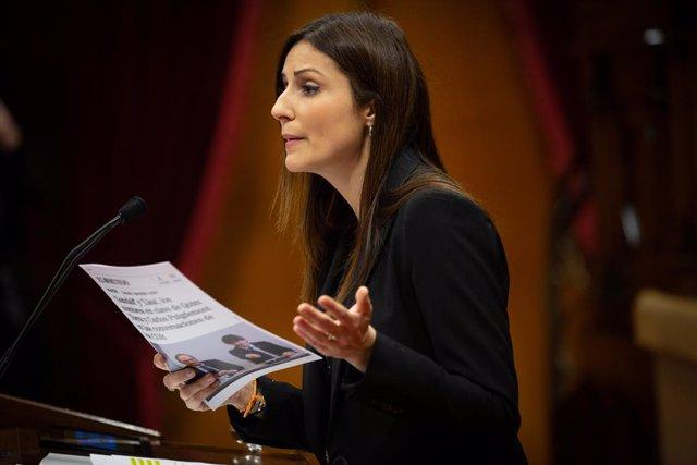 La líder de Ciutadans a Catalunya, Lorena Roldán.