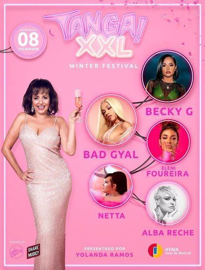 Bad Gyal se apunta al festival madrileño Tanga! XXL junto a Becky G, Netta, Alba Reche y Eleni Foureira