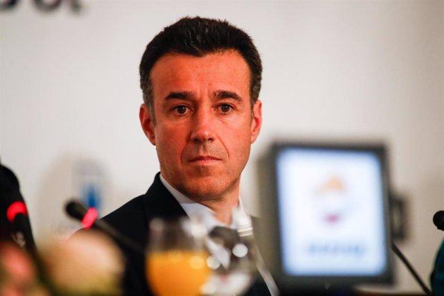 May Peus, presidente de la Real Federación Española de Deportes de Invierno en los Desayunos Deportivos de Europa Press
