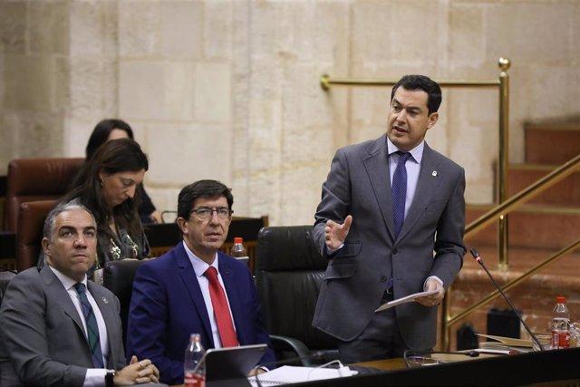 Juanma Moreno, este jueves ante el Pleno del Parlamento de Andalucía