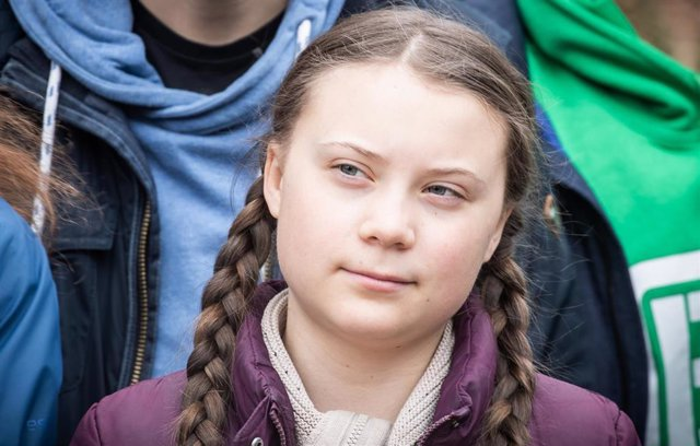 """FILED - 29 March 2019, Berlin: Swedish environmental activist Greta Thunberg participates in a climate demonstration """"Fridays for Future"""". Greta Thunberg to hitch a ride to Europe with Australian YouTube influencers. Photo: Michael Kappeler/dpa"""