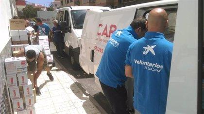 Voluntarios de 'la Caixa' distribuyen en Tenerife más de 4.800 kilos de alimentos