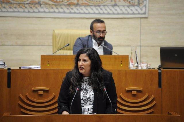 La diputada de Ciudadanos Marta Pérez Guillén en la Asamblea