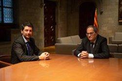 Torra es reuneix amb el president de la Cambra de Barcelona (David Zorrakino - Europa Press)