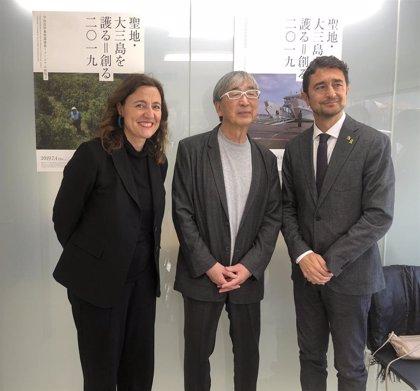 Mercè Conesa traslada a Toyo Ito la importancia para el Puerto de Barcelona de acoger el Hermitage
