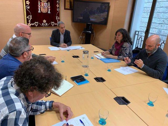 El subdelegado del Gobierno en Cádiz con el comité de Navantia Puerto Real