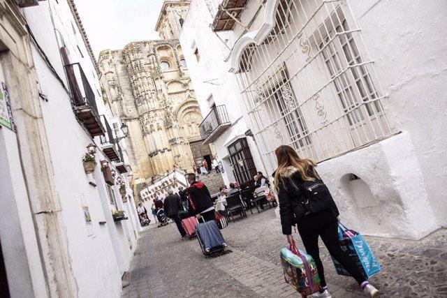 Turistas en la calle