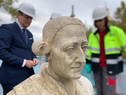 Los trabajos de restauración del monumento al Conde de Floridablanca concluirán antes de que acabe el año