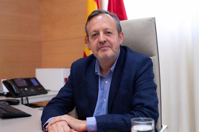 Entrevista de Europa Press con el consejero de Políticas Sociales, Igualdad y Natalidad de la Comunidad de Madrid, Alberto Reyero, en Madrid el 25 de septiembre de 2019.