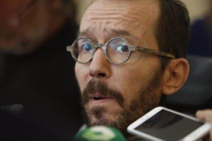 """Echenique sobre las críticas de Aznar al acuerdo de Gobierno: """"Si no le gusta, vamos camino de un país más justo"""""""