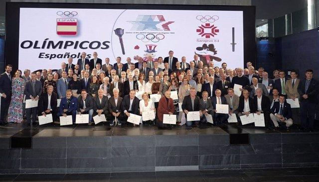 El COE rinde homenaje a los deportistas olímpicos de Sarajevo y Los Ángeles 1984.