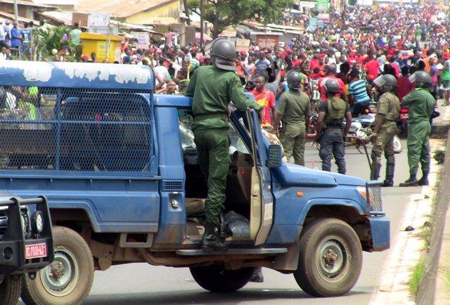 Despliegue de fuerzas de seguridad en Conakry