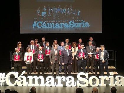 La Cámara de Comercio de Soria celebra sus 120 años rindiendo homenaje a los empresarios que apuestan por la provincia