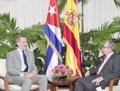 El Rey Felipe VI se reúne con Raúl Castro en La Habana