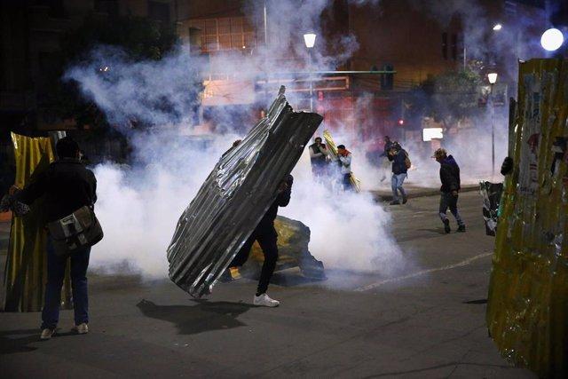 Enfrentamientos entre simpatizantes y detractores del presidente de Bolivia, Evo Morales, en La Paz