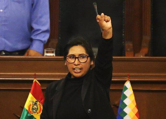 La senadora Eva Copa Murga es nombrada presidenta del Senado de Bolivia