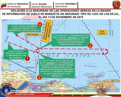 """Venezuela.- Venezuela denuncia que EEUU violó """"nuevamente"""" su espacio aéreo"""