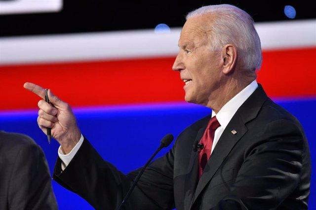 El cancidato a las primarias del Partido Demócrata Joe Biden.