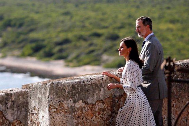 Spain's King Felipe VI and Queen Letizia visit the San Pedro de la Roca del Morro fortress in Santiago, Cuba