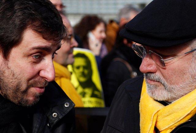 Los exconsejeros catalanes Toni Comin y Lluis Puig