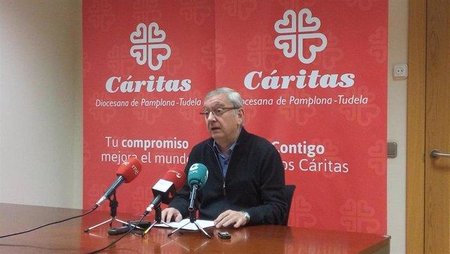 El director de Cáritas, Ángel Iriarte