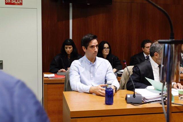 Rodrigo Lanza, l'acusat del crim en què va morir Víctor Lainez el desembre del 2017, en el jucio a Saragossa/Aragó (Espanya), 4 de novembre del 2019.