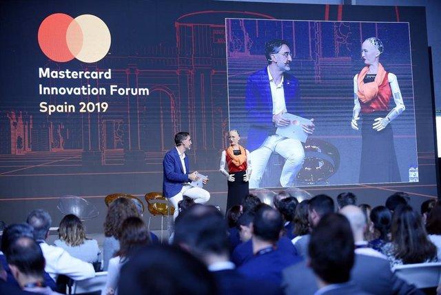 El evento Mastercard Innovation Forum en Madrid.