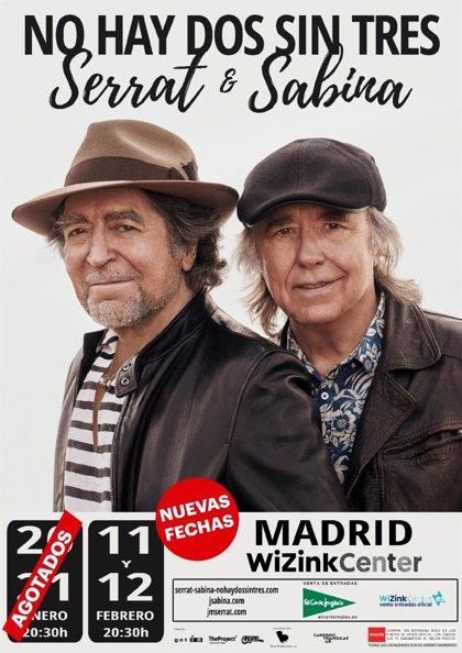 Serrat y Sabina anuncian dos nuevos y últimos conciertos en el WiZink Center de Madrid