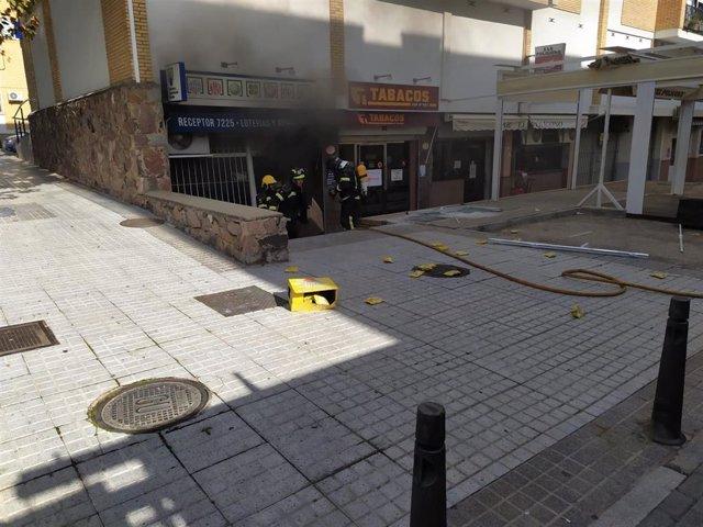 Deflagración en un estanco en Mérida