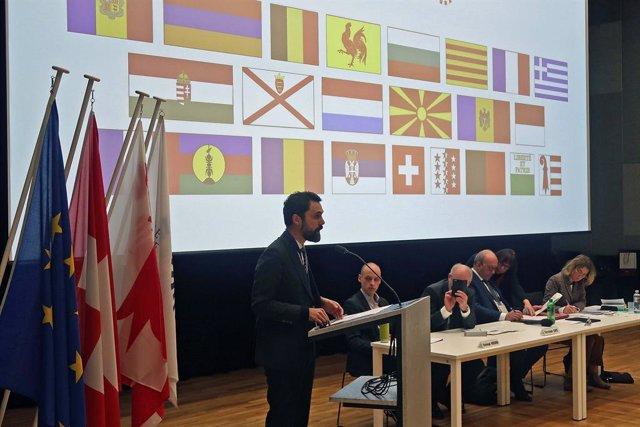 El president del Parlament, Roger Torrent, en l'Assemblea Regional Europa de l'Assemblea Parlamentària de la Francofonia.