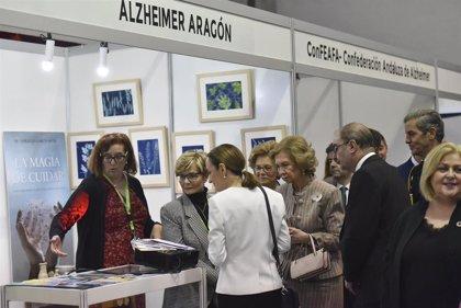 La Reina Sofía pide en Huesca seguir investigando el origen del alzheimer y su cura