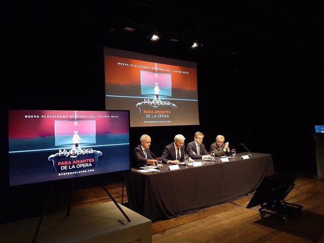 Presentación de la plataforma digital del Teatro Real 'My Opera Player', en el Teatro Real de Madrid.