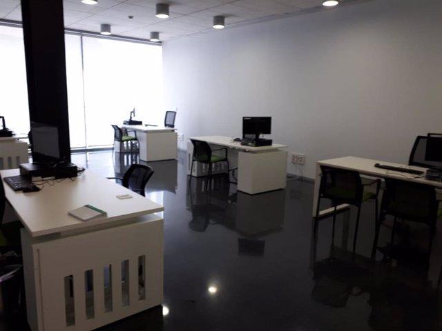 Interior del Juzgado de Primera Instancia número 7 de Jaén, en su sede provisional.