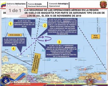 Venezuela.- Venezuela vuelve a denunciar que Estados Unidos viola su espacio aéreo