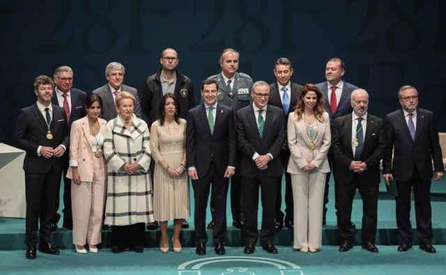 Acto institucional con motivo del 28-F de 2019 con la entrega de las distinciones de Hijos Predilectos y Medallas de Andalucía (Foto de archivo).