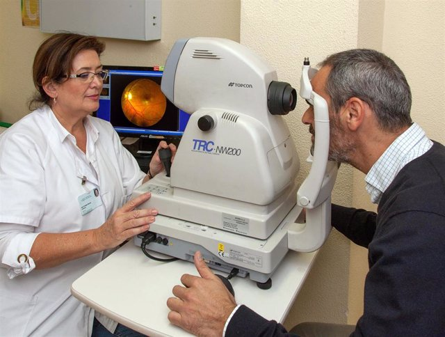 Realización de una retinografía