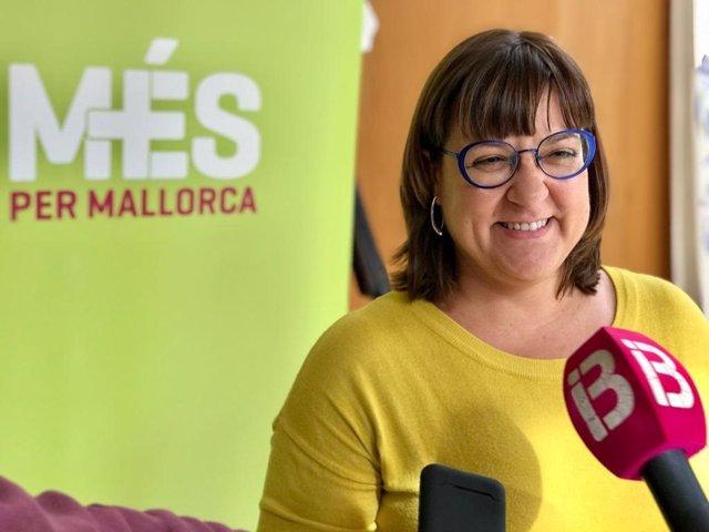 La coordinadora de MÉS per Mallorca, Bel Busquets, en la IV Asamblea General de la formación.