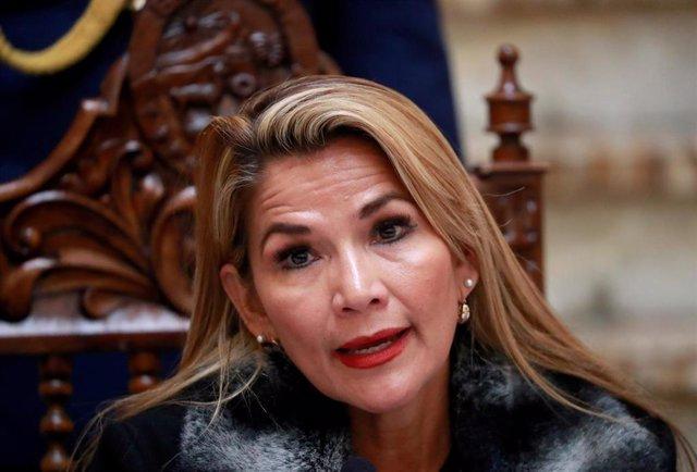 La autoproclamada presidenta interina de Bolivia, Jeanine Anez