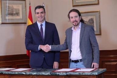 """Sánchez demana per carta a la militància que doni suport a l'acord amb Unides Podem que considera """"imprescindible"""" (Jesús Hellín - Europa Press)"""