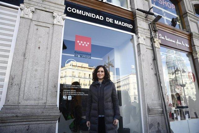 La presidenta de la Comunidad de Madrid, Isabel Díaz Ayuso inaugura el Centro de Turismo de Sol, en Madrid (España), a 15 de noviembre de 2019.