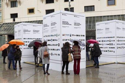 Un centenar de personas comparten su particular forma de ver San Sebastián en la exposición 'Miradas Contemporáneas'