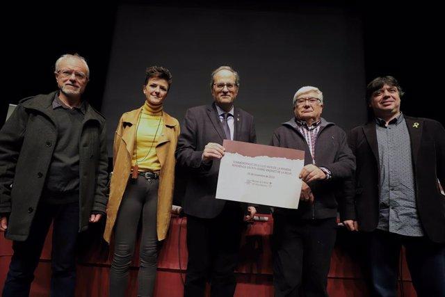 El president de la Generalitat, Quim Torra, presideix l'acte commemoratiu dels 1.100 anys d'història de Maçanet de la Selva.
