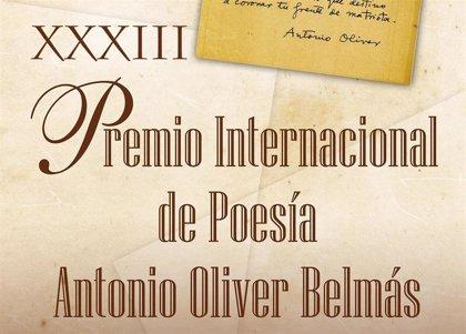 Este lunes se desvela el fallo del Premio de Poesía Antonio Oliver Belmás