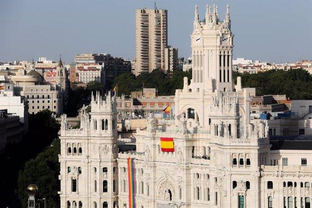 Fachada del Palacio de Cibeles de Madrid.
