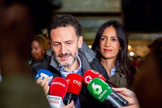 El portaveu adjunt de Ciutadans (Cs) al Congrés, Edmundo Bal, i la vicealcaldessa de Madrid, Begoña Villacís.