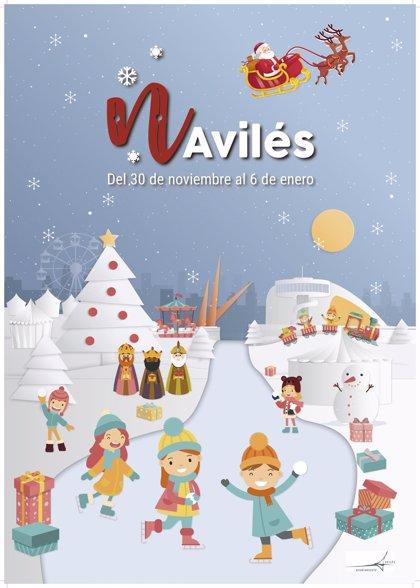 Avilés adelanta el encendido navideño al 30 de noviembre y refuerza la programación