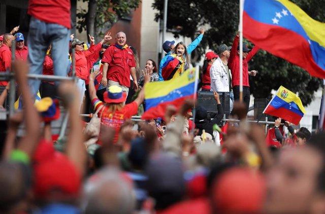 Manifestación 'chavista' en Caracas